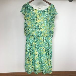 Sangria Watercolored Dots Dress - sz. 12